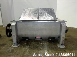 Used- Ribbon Blender, Approximate 36 Cubic Foot Capacity, 304 Stainless Steel.