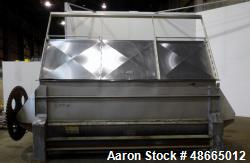 Used- Ribbon Blender, Approximate 178 Cubic Feet, 304 Stainless Steel.
