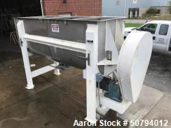 Used- Approximately 140 Cubic Foot Stainless Steel Ribbon Blender