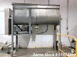 Used-80 Cubic Foot Stainless Steel Double Ribbon Blender