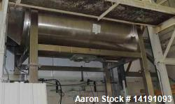Used- 200 Cu Ft 304 Stainless Steel Ribbon Blender. Mfg Aaron Process