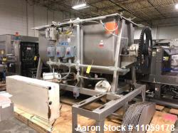 "87 Cu.Ft. Bepex Ribbon Blender with Choppers. Stainless steel. Model IMXS-87. Trough is 8'3"" lgth. ..."