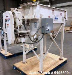 Used- 30 Cubic Feet Stainless Steel Ribbon Mixer