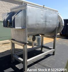 Used- Patterson 40 (Approximate) Cubic Foot Jacketed Double Ribbon Blender. Stainless steel. Serial 760A2095. Jacket Working...