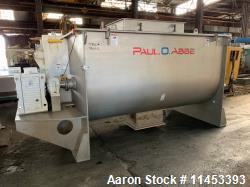 Used- 165 Cubic Foot Paul O. Abbe Ribbon Blender
