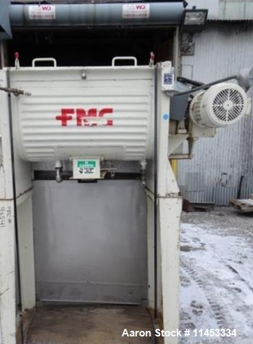 "Used- Munson Ribbon Blender, Model HD1. 5 cubic foot, stainless steel construction, 18"" wide x 36"" long trough. Outboard rol..."