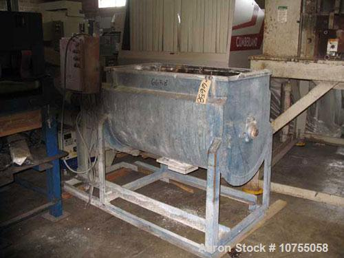 Used- Stainless steel ribbon mixer, 16 cubic feet working capacity