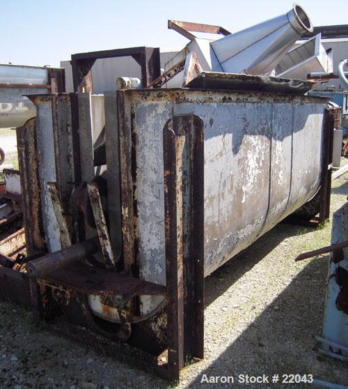 "Used- Ribbon Blender, 143 Cubic Feet, 304 Stainless Steel. Non-jacketed trough 44"" wide x 144"" long x approximately 59"" deep..."