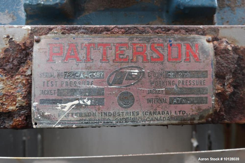 Used- Patterson 55 (Approximate) Cubic Foot Ribbon Blender