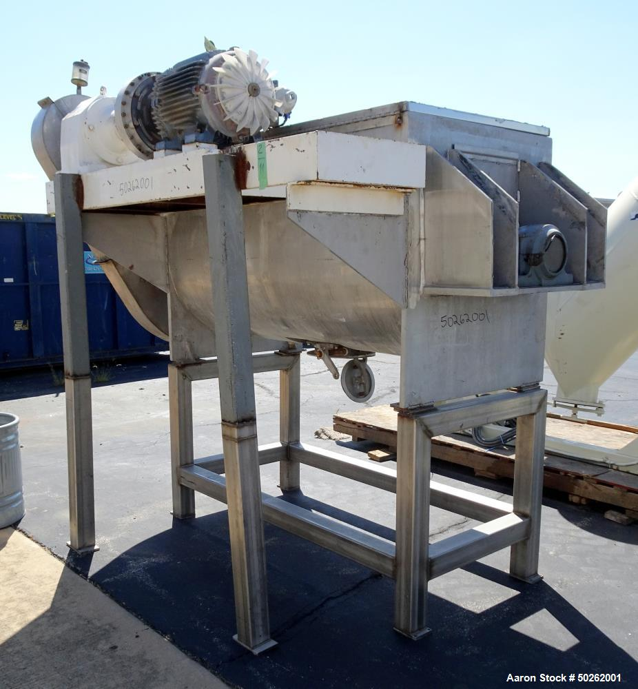 Used- Patterson Double Spiral Ribbon Blender, Approximate 40 Cubic Foot, 304 Sta