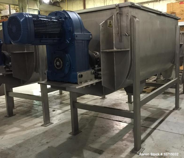 Used- New-In-Stock- Paul O. Abbe Model IMB-100 Cubic Foot Ribbon Mixer. 1 Year Warranty. 304 Stainless Steel. All external s...