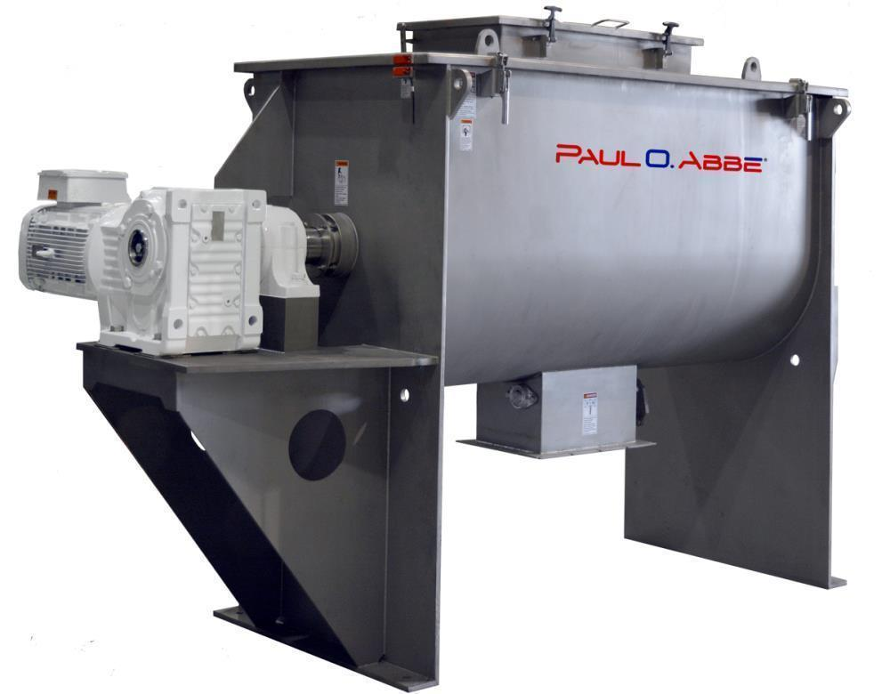 New- Paul O. Abbe, Model RB-315 Ribbon Blender. 315 Cubic Foot working capacity. 356 Cubic Foot total volume. Type 304 stain...