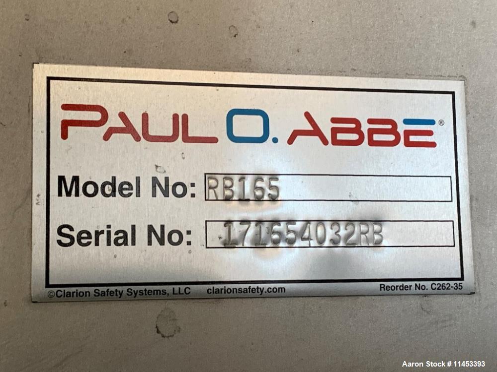 Used- 165 Cubic Foot Paul O. Abbe Ribbon Blender