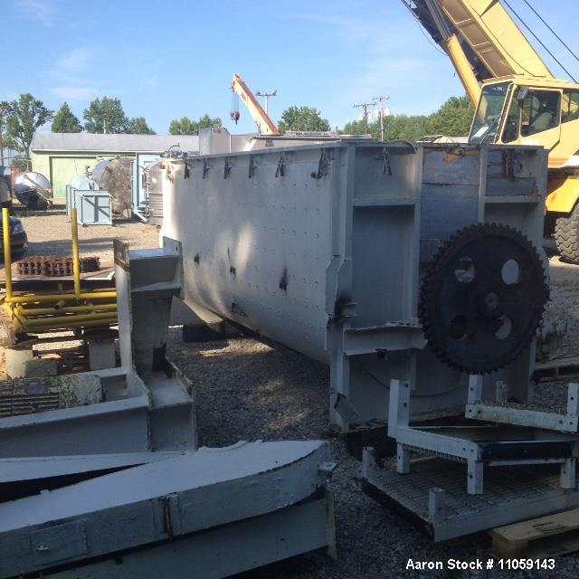 Used-Paul O. Abbe 200 Cubic Foot Stainless Steel Jacketed Ribbon Blender. 75 PSI Jacket, 40 hp, 220/440 volt, 1800 rpm, 3 ph...