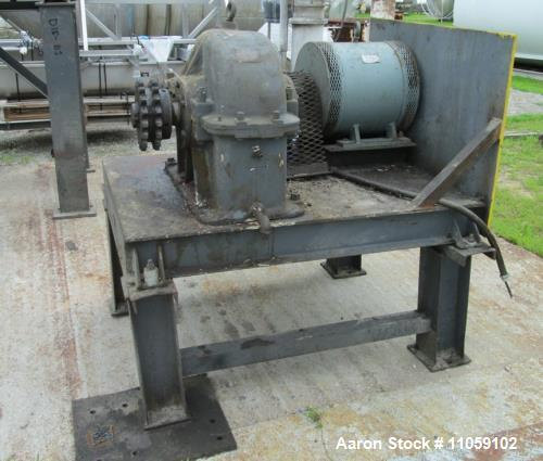 Used- Ribbon Blender, Approximately 150 Cubic Foot Stainless Steel. Trough has a carbon steel jacket rated 75 PSI at 320 deg...