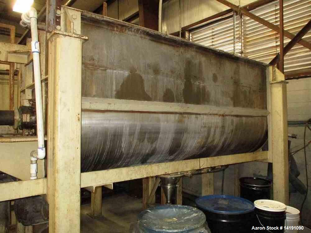 Used- 80 Cubic Foot Ross Stainless Steel Ribbon Blender