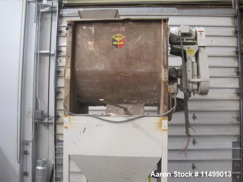 Used- Scott Ribbon Blender, Model 404SS.  35 cubic feet, stainless steel. 10 HP Reliance XE AC motor, 230/460, Falk Quad dri...