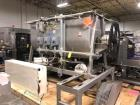 Used- 87 Cu.Ft. Bepex Ribbon Blender with Choppers. Stainless steel. Model IMXS-87. Trough is 8'3