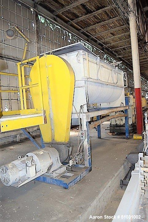 Used- Double Spiral Ribbon Blender, Approximately 100 Cubic Feet Capacity