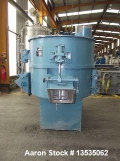 Used-Guedu 2V 1600 PO Vertical Mixer.  Stainless steel construction.  Cylindrical flat bottom vessel.  Maximum volume 1600 l...