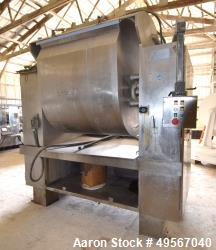 Used- Shaffer Single Arm Dough Mixer, Model 7-RD, Approximate 1700 Pound Capacity (43 Cubic Feet), Stainless Steel. Jacketed...