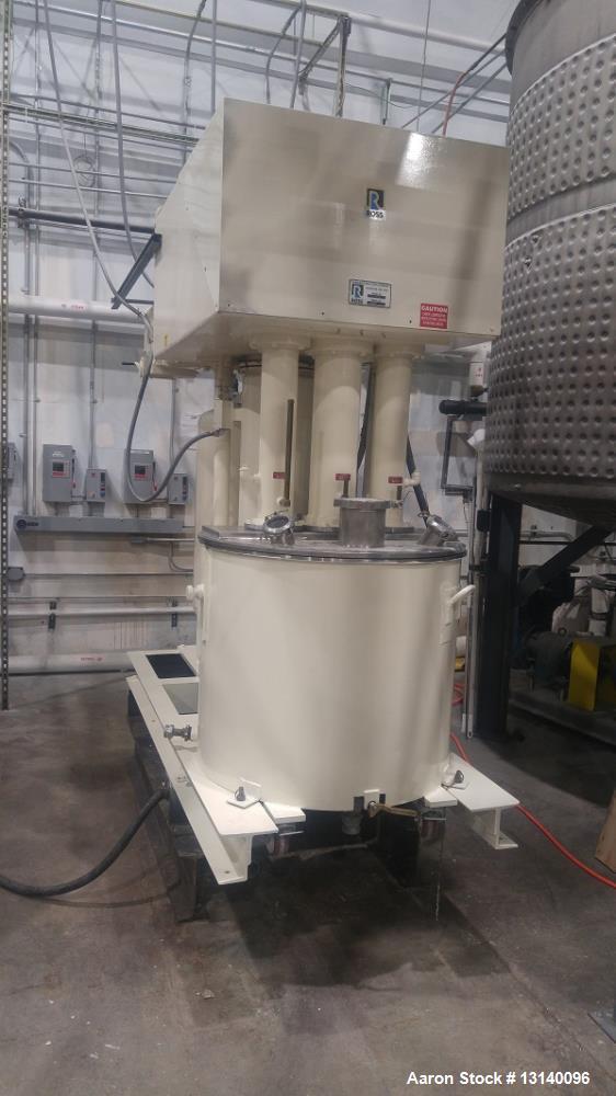 Used- Charles Ross & Sons, Triple Shaft Vacuum Mixer, Model PVM-100