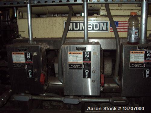 "Used-Munson Mixer, Model HIM-83/124 SS. Mixing chamber 4' long x 12"" deep, 20 hp main drive, feeder 33"" long x 9"" deep, 10 h..."
