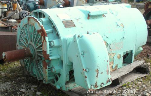 Used- General Electric Custom 8000 Motor, Model 5K811058A10. 200 HP, 3/60/2300 Volt, 1780 RPM. 8110 frame, type K, 45 Amp.