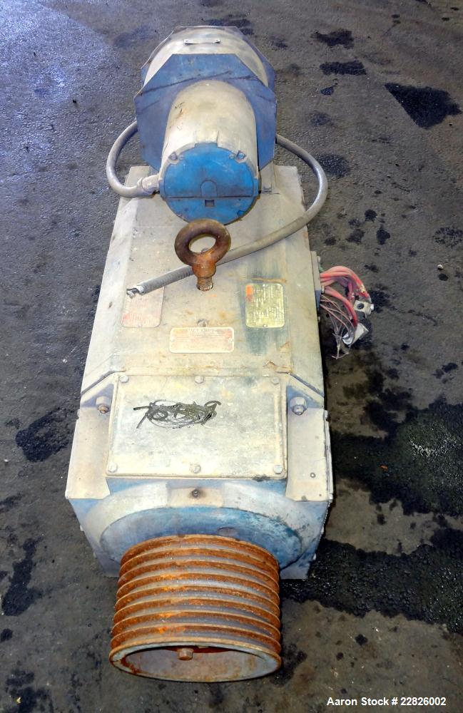 Used- Reliance DC Motor. 150hp, 500 volts, 1750/2000 rpm. Frame LC32J2ATY. ID#1KSK09406J-QS. Includes an 8 belt sheave. Last...