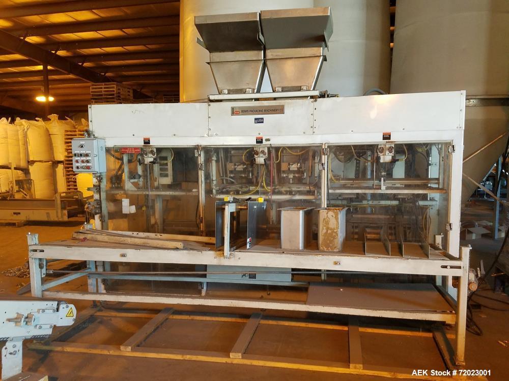 Used- Bemis Duplex Automatic Bagging System, Model 7130A. Includes: Parsons-Eagle, model DUPLEX EVM-4II, scale. 1/60/120v; C...