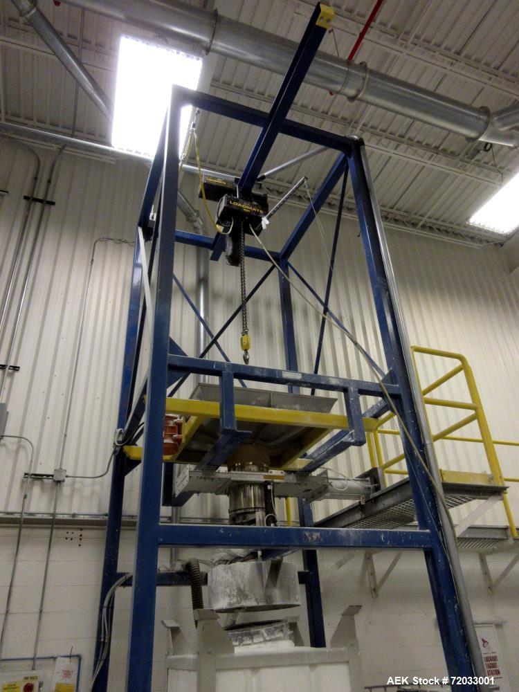 Used-Accusack Technology  Super Sack Loader.  Has RM Loadmaster Hoist with Maximum capacity of 4000 lbs. includes Frame and ...