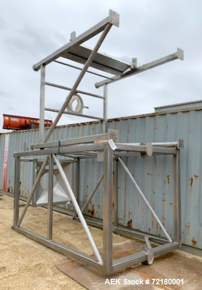 Used- Stainless Steel Supersack Unloader with 2-Ton Hoist Capacity