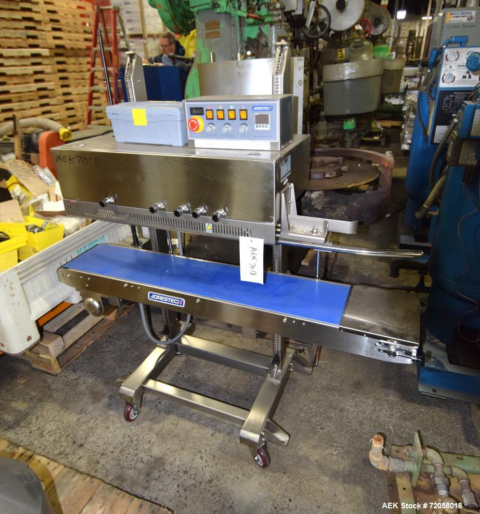 Used- Jorestech Continuous Band Sealer, Model CBS-1010CIN, Stainless Steel. Capable of speeds of up to 27 feet a minute. Ser...
