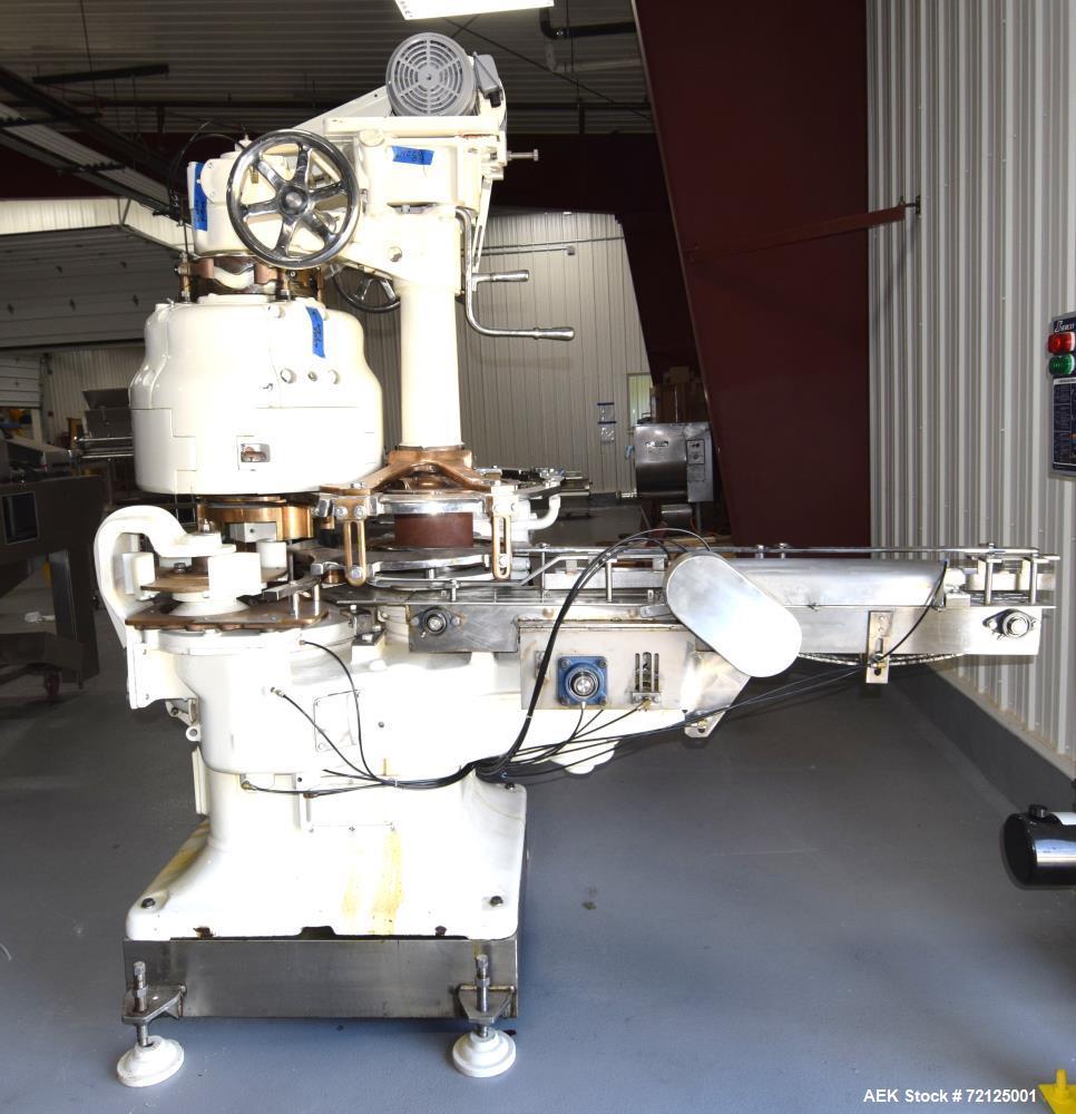Used-Sutthiphong Engineering Can Seamer, Model C400. (4) Seaming heads, lid magazine, infeed conveyor. Serial# STP298, rebui...