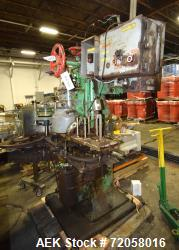 American Can Single Head Can Closing Machine, Model 08SF. Set up for 603x700 cans, disc infeed with...