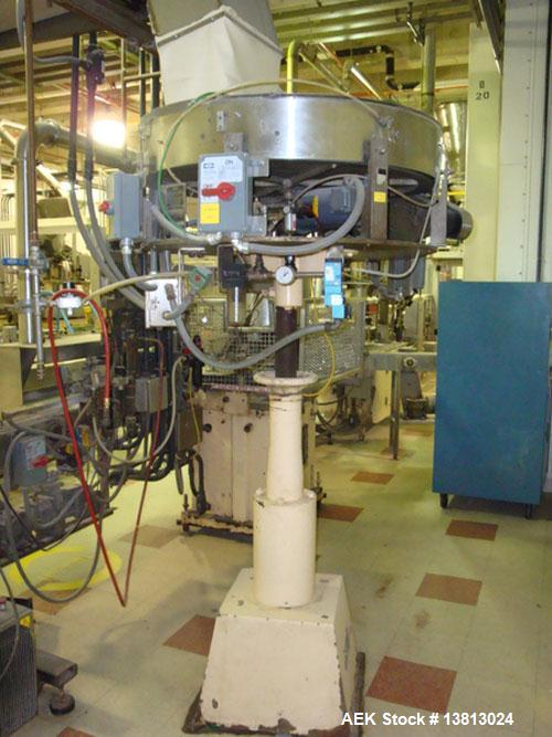 Used-Capem Model TG-10 15, 10 Head Screw Capper with Sorter. Screw capper currently set up to run spice style closures in 53...