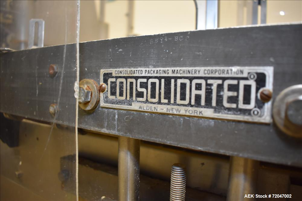 """Used- Consolidated Model TG-6-15 """"Capem"""" Rotary 6-Head Chuck Capper"""