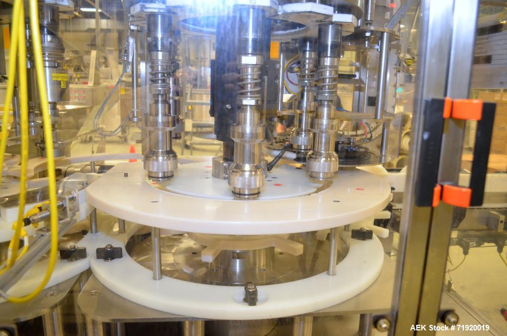 Used- Fowler/Zalkin 6-head rotary capping and sorting system