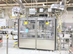 Used- Fowler/Zalkin 6-head rotary capping and sorting system, Model 480-NH-DOUBLE, Serial # 970. Has worm-screw to star-whee...