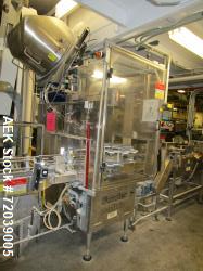 Used-Fowler Zalkin single head chuck capper. Includes bulk cap elevator and pinwheel-style cap sorter. Currently set up for ...