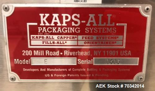 Used KapsAll Capper, model E. 4-spindle capper