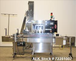 Used- New Jersey Machine (NJM) Model Unicap-150 Automatic Inline Quill Capper.