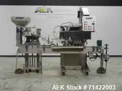 Used- Surekap Model SK6000-BF6-COMBO Automatic Quill Capper with Elevator