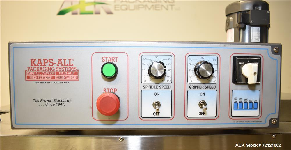 Used-Kaps-ALL FC8 Caper/Retorquer, S/N 5003, Includes Griper & Spindle Speed Controller