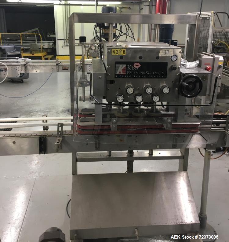 Used- Kiss, Model VACT-06 Automatic inline Cap Tightener/Cap Retorquer.