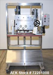Used-Kiss (Accutek) Packaging Systems 4 spindle In Line Capper,