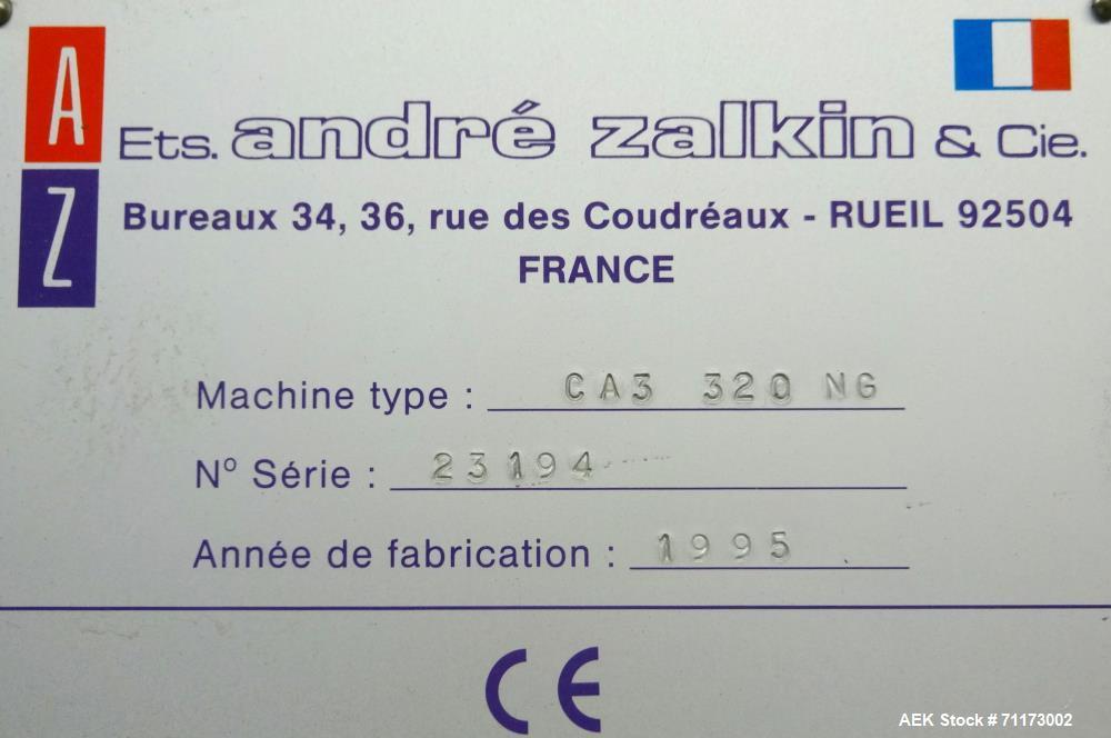 Used- Zalkin Model CA3 Rotary Chuck/Snap Capper.