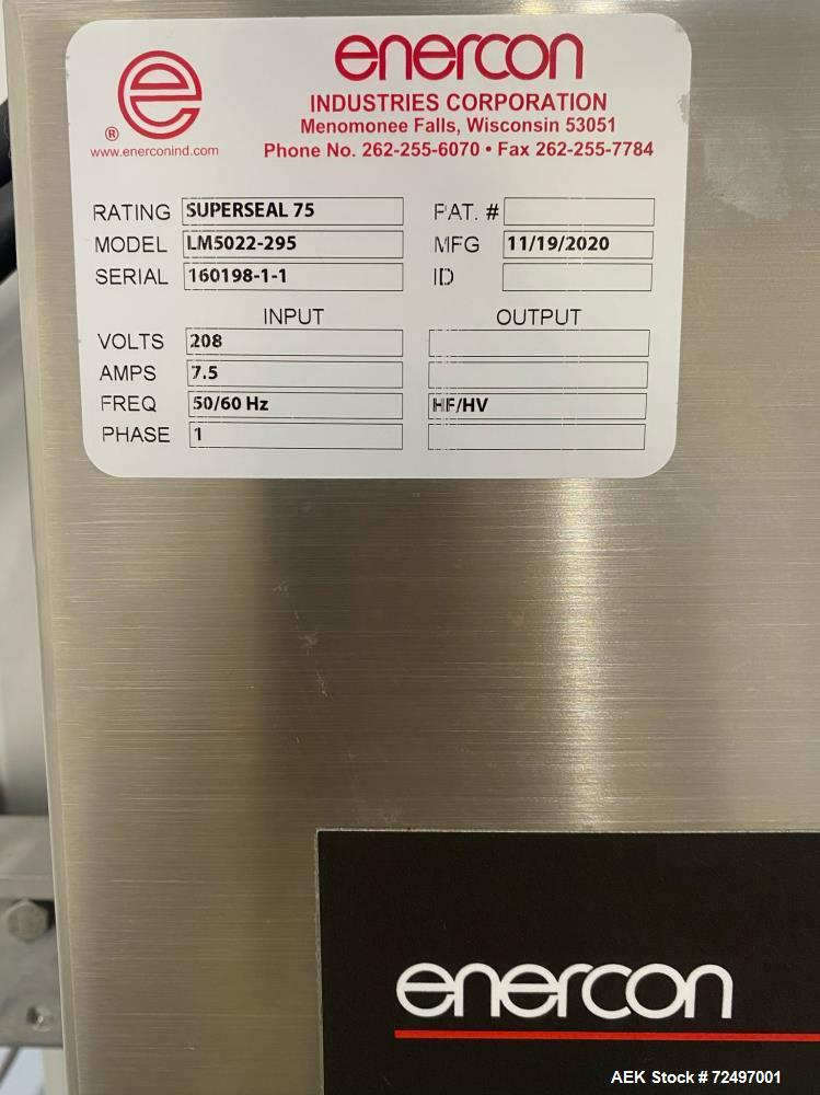 Used-Enercon Superseal 75, Induction Cap Sealing Machine