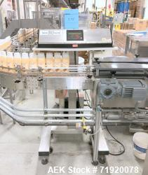 Used- Lepel induction sealer, Model CS PLUS 350 SS, Serial # 1124-003026. Stainless steel construction, mounted over line co...