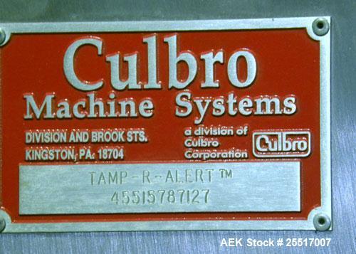 Used- Culbro Model Tamp-R-Alert Tamper Evident Shrink Bander
